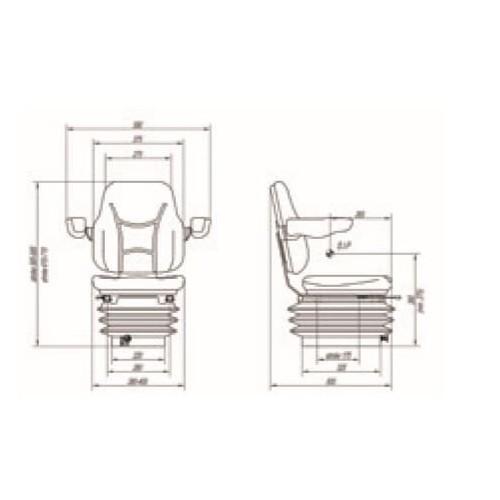 ASIENTO RM81 210 PVC NEG SW DSG H GU