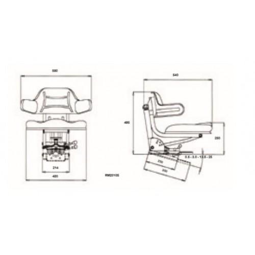 ASIENTO RM20 105 UNIV PVC AMARILLO (NEUTRO)