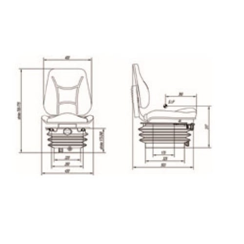 ASIENTO RM35 S 105 PVC NEG SW