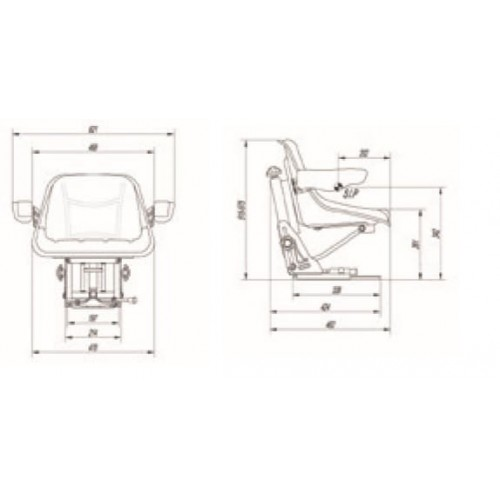 ASIENTO RM450 110 BASICO PVC NEG DSG H