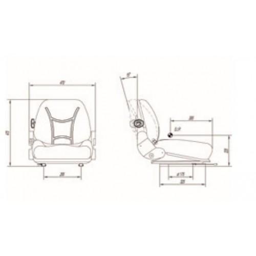 ASIENTO RM52 PVC NEG SW GU MICBTT CTR2 140mm