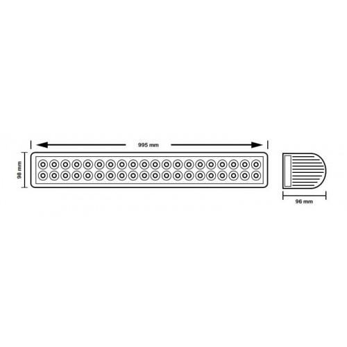 BARRA 48 LED 8000 lm 10-30 V