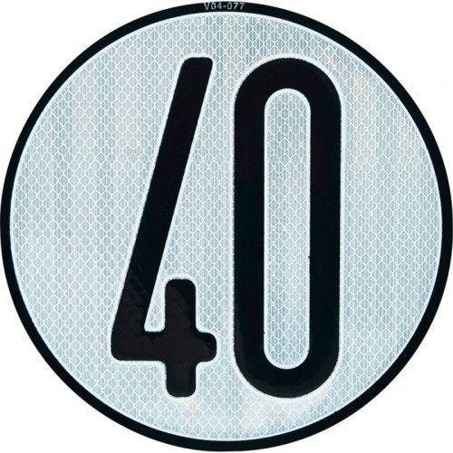 PLACA LIMITES VELOCIDAD 40 km/h