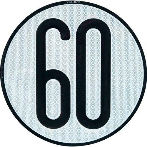PLACA LIMITES VELOCIDAD 60 km/h