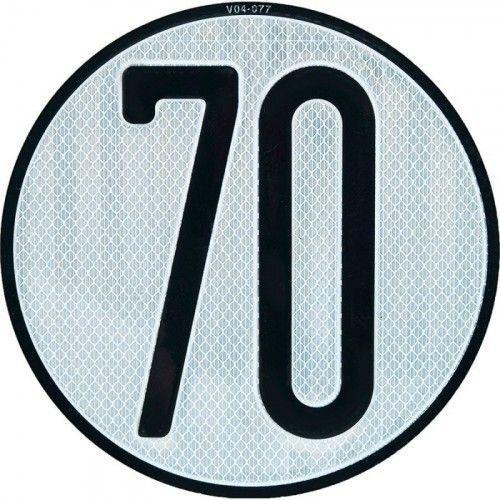 PLACA LIMITES VELOCIDAD 70 km/h