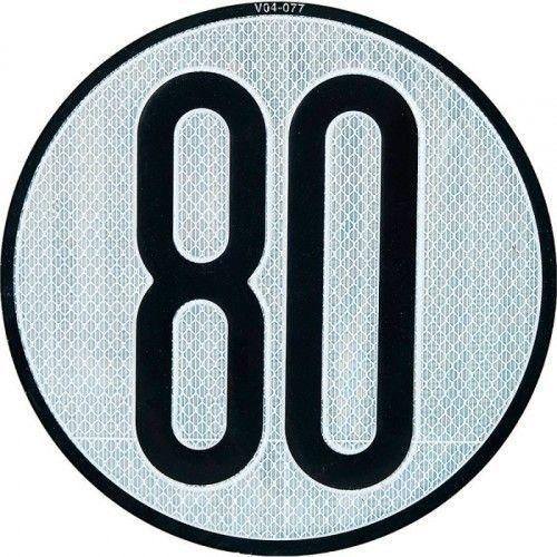 PLACA LIMITES VELOCIDAD 80 km/h
