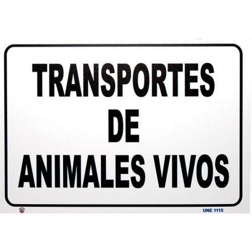 PLACA TRANSPORTE ANIMALES VIVOS